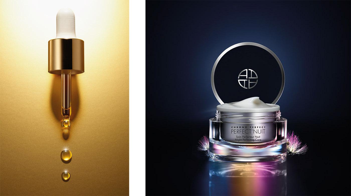 design des pots des cosmétiques